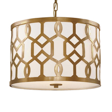 Crystorama 2265-AG - Libby Langdon for Crystorama Jennings 3 Light Aged Brass Chandelier