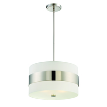 Crystorama 295-PN - Libby Langdon for Crystorama Grayson 3 Light Polished Nickel Chandelier