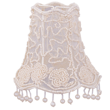 "Crystorama 2SH - Crystorama 5"" Pearl Beaded Shade w/ Dangling Pearls"