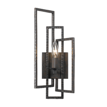 Crystorama 331-RS - Crystorama Capri 1 Light Raw Steel Sconce