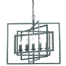 Crystorama 336-GY - Crystorama Capri 5 Light Gray Chandelier