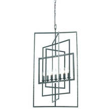 Crystorama 339-GY - Crystorama Capri 7 Light Gray Finish Chandelier