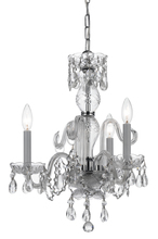 Crystorama 5044-CH-CL-MWP - Crystorama Traditional Crystal 3 Light Clear Crystal Chrome Mini Chandelier II