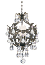 Crystorama 5193-EB-CL-MWP - Crystorama Legacy 3 Light Clear Crystal Bronze Mini Chandelier