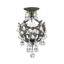 Crystorama 5193-EB-CL-MWP_CEILING - Crystorama Legacy 3 Light Clear Crystal Bronze Ceiling Mount