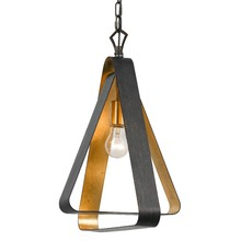 Crystorama 591-EB-GA - Crystorama Luna 1 Light Bronze and Gold Mini Chandelier