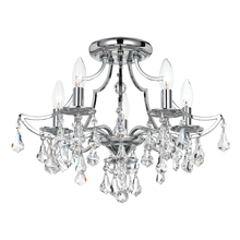 Crystorama 5930-CH-CL-MWP - Crystorama Cedar 5 Light Polished Chrome Ceiling Mount