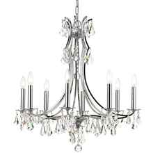 Crystorama 5938-CH-CL-MWP - Crystorama Cedar 8 Light Polished Chrome Chandelier