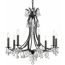 Crystorama 5938-VZ-CL-MWP - Crystorama Cedar 8 Light Vibrant Bronze Chandelier