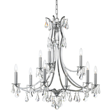 Crystorama 5939-CH-CL-MWP - Crystorama Cedar 9 Light Polished Chrome Chandelier