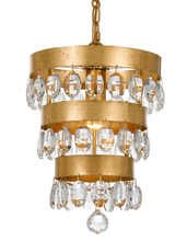 Crystorama 6103-GA - Crystorama Perla 1 Light Antique Gold Mini Chandelier