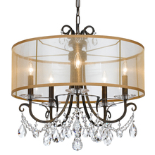 Crystorama 6625-EB-CL-MWP - Crystorama Othello 5 Light Clear Crystal English Bronze Chandelier