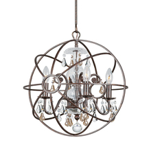 Crystorama 9025-EB-GS-MWP - Crystorama Solaris 4 Light Golden Shadow Crystal Bronze Mini Chandelier
