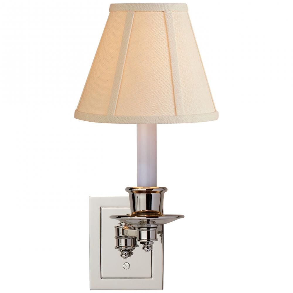 Champions Lighting in Houston, Texas, United States,  2FVH2, Single Swing Arm Sconce in Polished Nickel with, Swing Arm Sconce