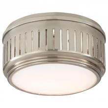 Visual Comfort TOB 4160AN-WG - Eden Small Flush Mount in Antique Nickel with Wh