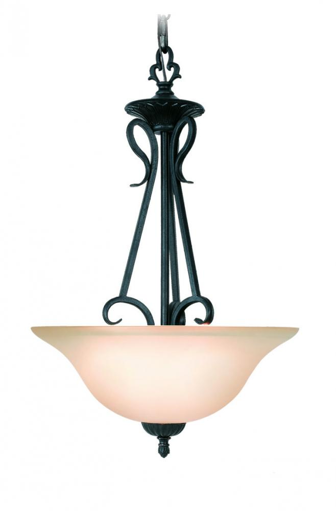 Champions Lighting in Houston, Texas, United States,  4C67, Black Up Chandelier, Jamestown