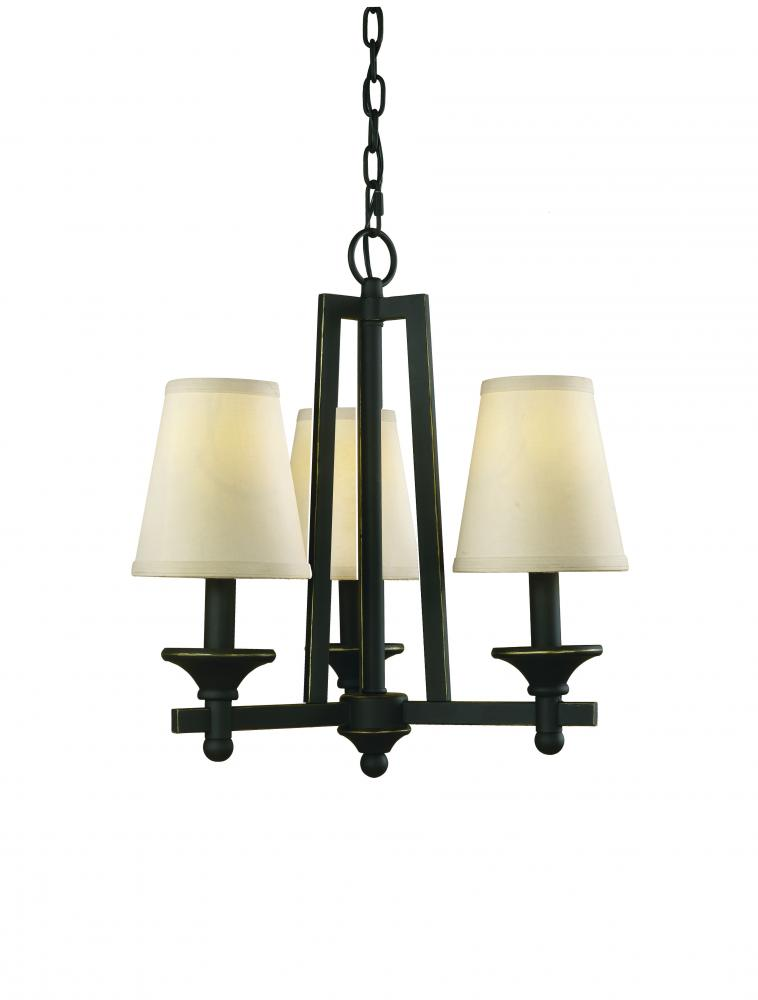 Champions Lighting in Houston, Texas, United States,  4E3G, Black Up Mini Chandelier, Baxter