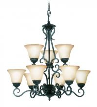 Woodbridge 12122-TBK - Black Up Chandelier