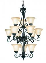Woodbridge 12123-TBK - Black Up Chandelier
