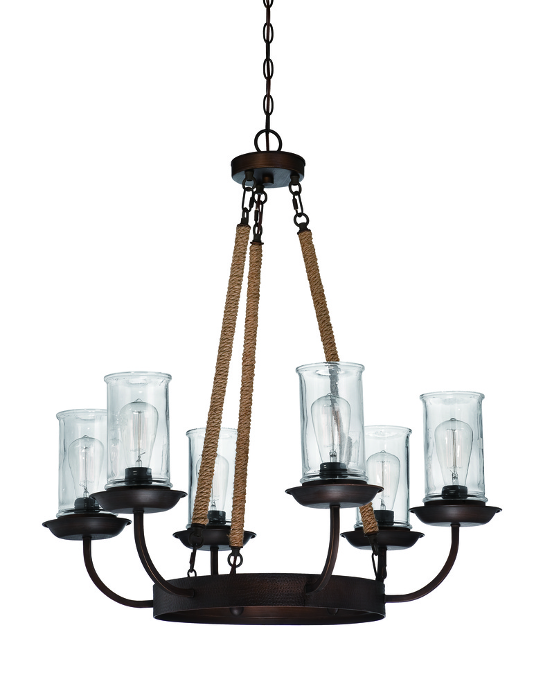 Champions Lighting in Houston, Texas, United States,  ADXX, Thornton 6 Light Chandelier in Aged Bronze, THORNTON
