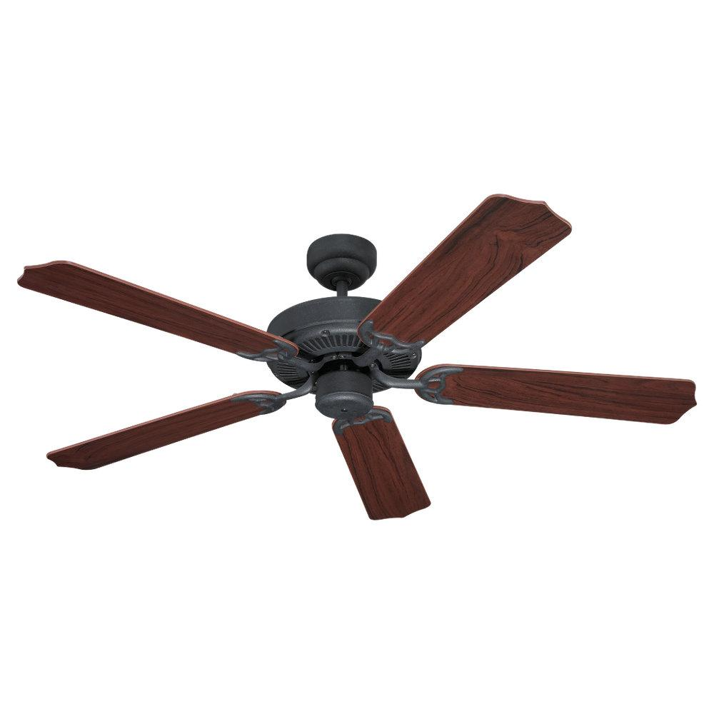 Champions Lighting in Houston, Texas, United States,  LK0M, Quality Max & Energy Star 52 Inch Ceiling Fan in Weathered Iron Finish, Quality Max