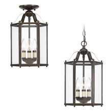 Sea Gull 5231-782 - Three Light Semi-Flush Convertible Pendant
