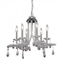 Sterling Industries 144-029 - Six Light Chrome Up Mini Chandelier