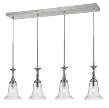 "CAL Lighting FX-3610-4 - 72"" Inch Tall Glass Pendant In Brushed Steel Finish"