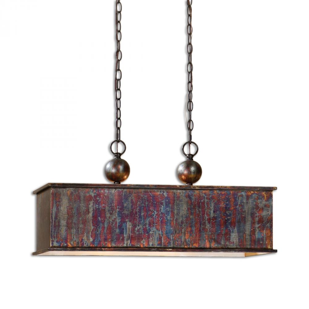 Champions Lighting in Houston, Texas, United States,  R53C, Uttermost Albiano Rectangle 2 Lt Bronze Pendant, Albiano