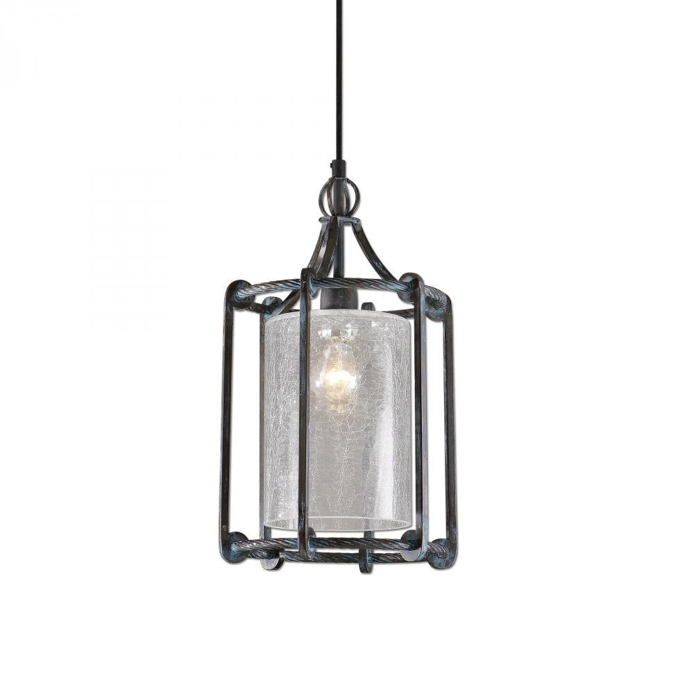 Champions Lighting in Houston, Texas, United States,  9LY67, Uttermost Generosa 1 Light Crackle Glass Lantern, Generosa