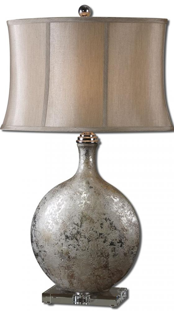 Champions Lighting in Houston, Texas, United States,  V6TL, Uttermost Navelli Silver Table Lamp, Navelli