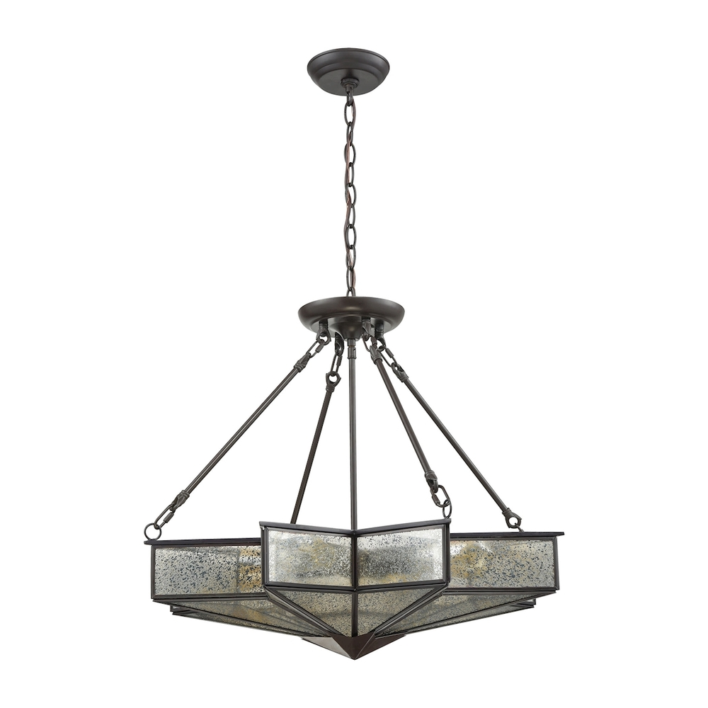 Champions Lighting in Houston, Texas, United States,  YPPJ, Decostar 4 Light Chandelier In Oil Rubbed Bronze, Decostar