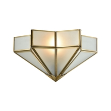 ELK Lighting 22015/1 - Decostar 1 Light Wall Sconce In Brushed Brass Wi
