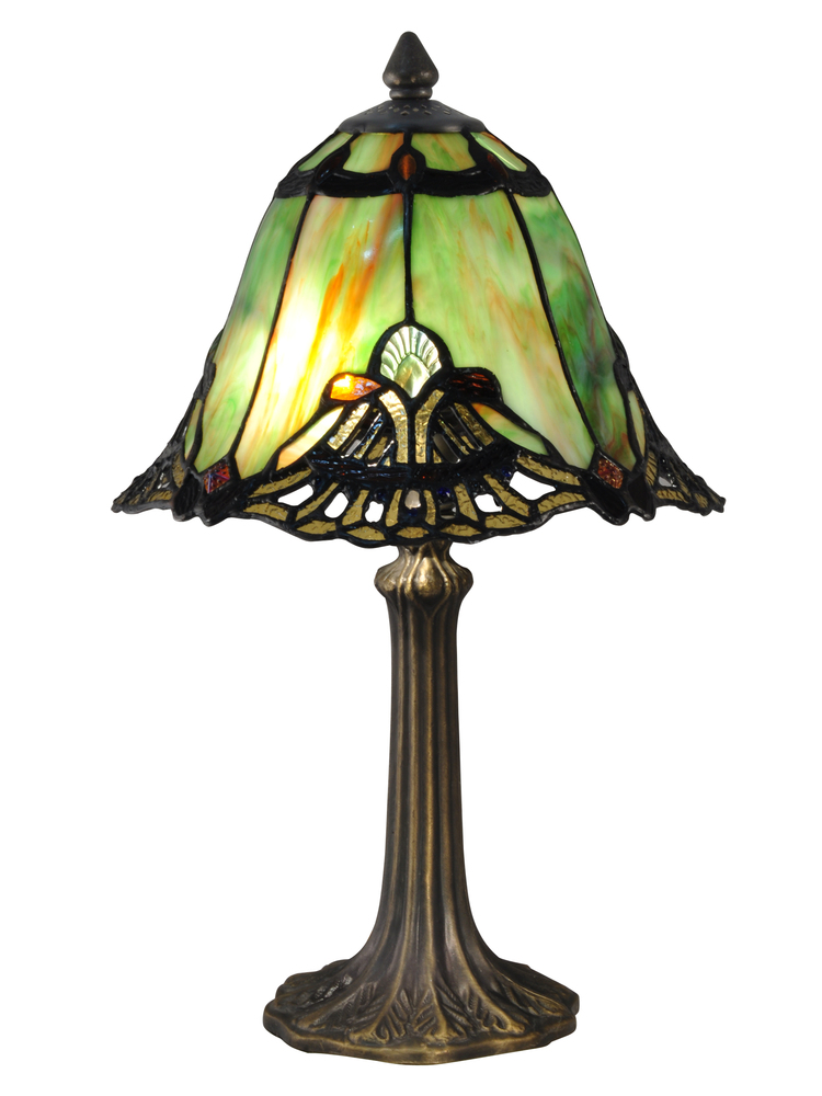 Green Haiawa Tiffany Accent Table Lamp 29ghp Champions Lighting