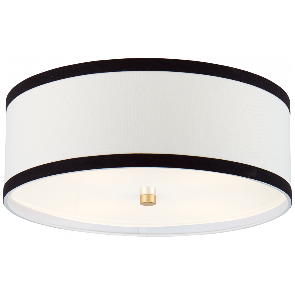 Walker Medium Flush Mount In Gild With Cream Lin Cluke